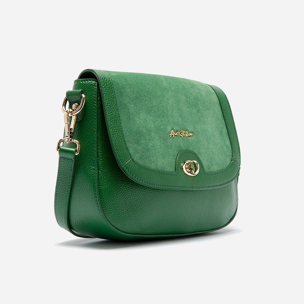aa56e68981 Antonela shoulder bag in calfskin and suede leather – ART GO DEN ...